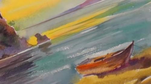 Рисуем акварелью. Морской пейзаж
