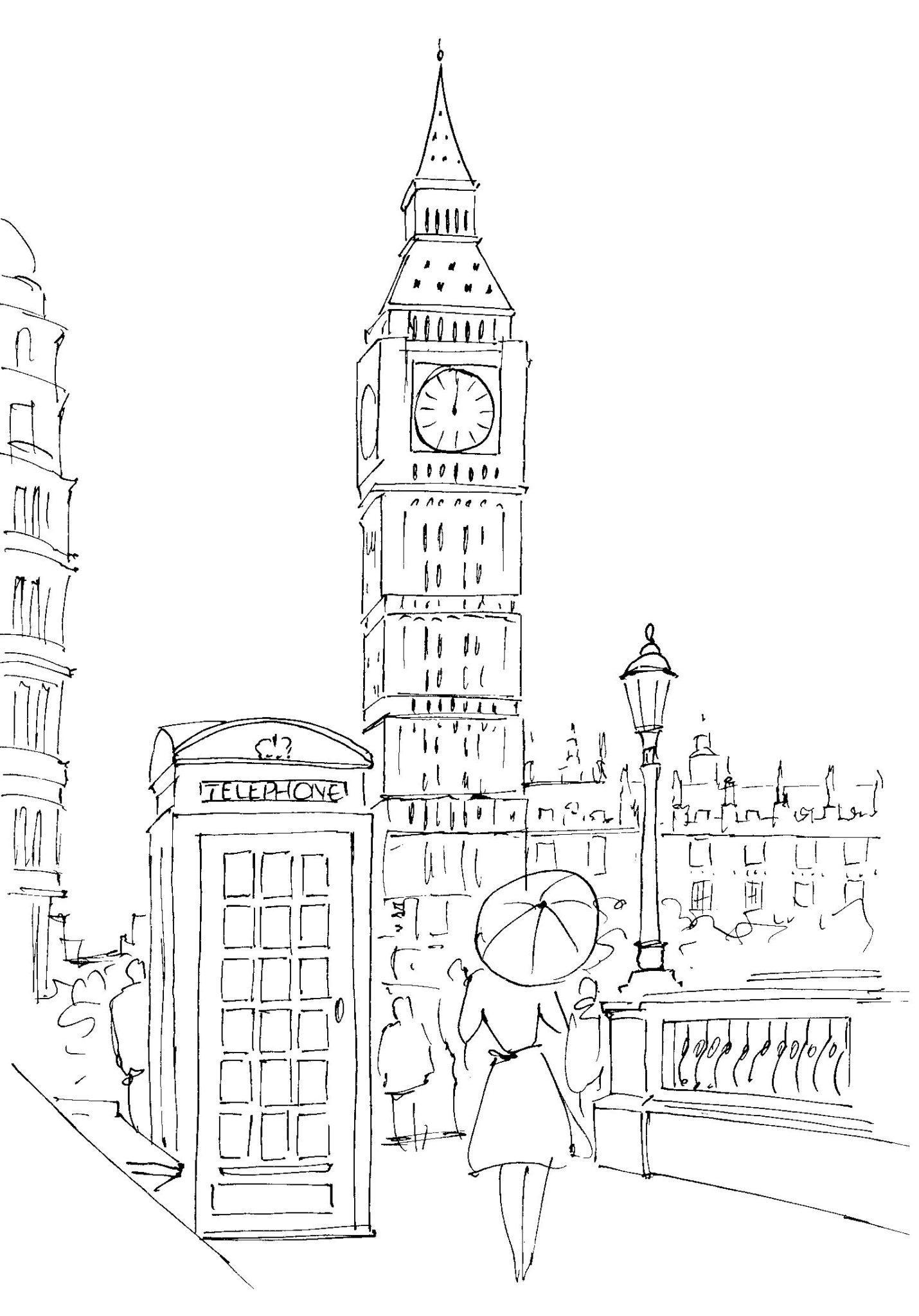 первый лондон раскраска для малышей думаю