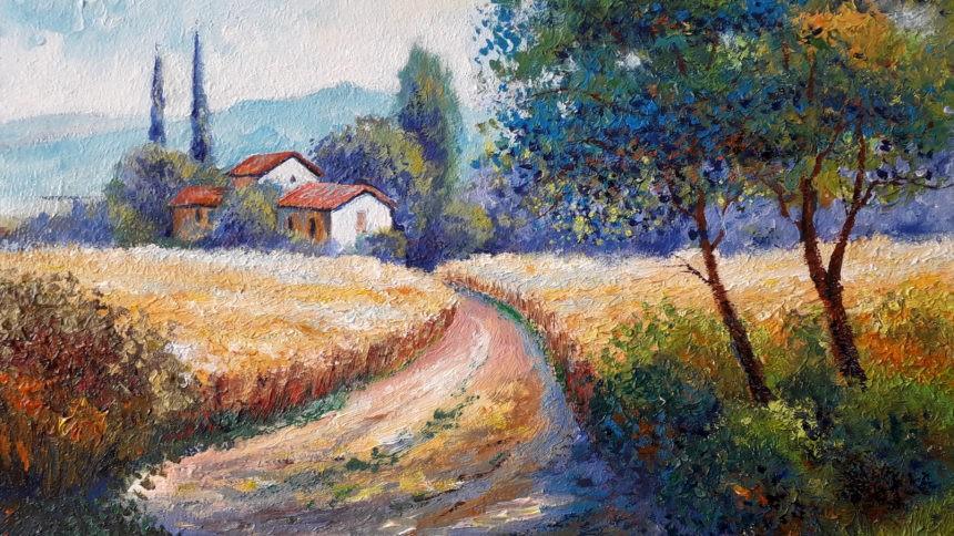 Картина в стиле импрессионизма. «Дорогами Прованса»